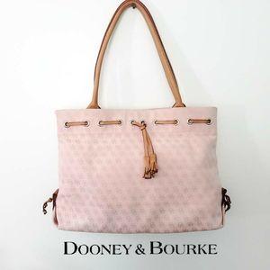 Dooney & Bourke Light Pink Canvas Signature Bag